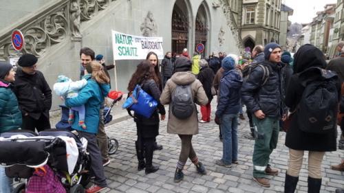 protest vor dem Rathaus März 2018 (1)